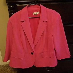 Kasper hot pink plus size blazer EUC